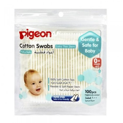 PG 10883 COTTON SWABS THIN STEM 100'S BAG