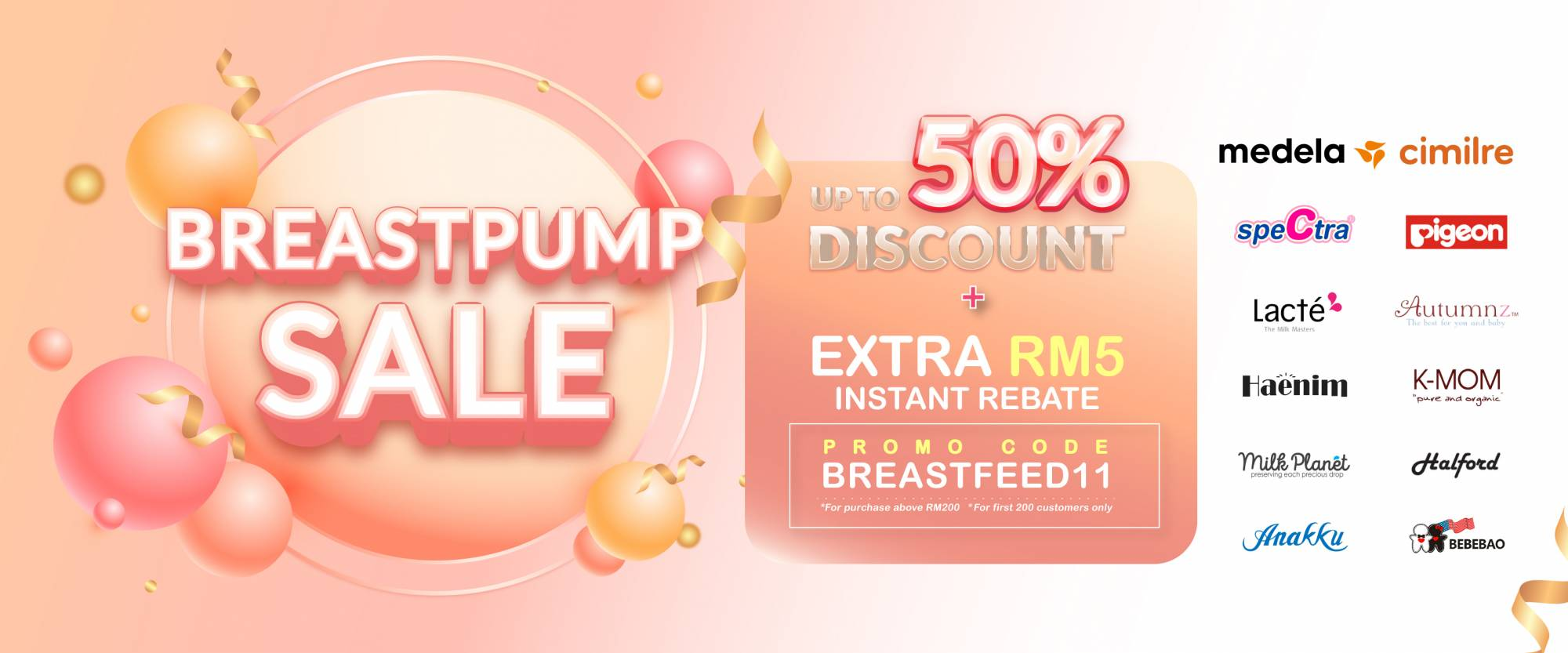 BreastPump Promo up to 50%